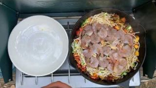 M & K TV Guide Network Camping for Life EPS#6 Prawn, Mussels in Spicy Coconut & Nectarine Beer Broth