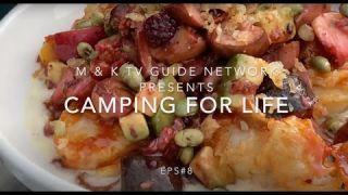 M & K TV Camping for Life EPS#8 Beer Tempura Scallops & Spiced Skyline Fruits over Coconut Ginger...